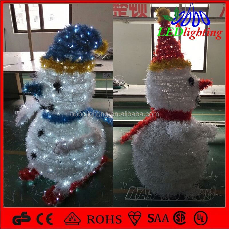 Factory Directly Provide Sparkling Shock Resistant outdoor lighted snowman