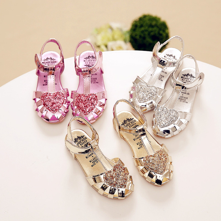 139732921127 S64115A Kids soft sole Sandal Girls pearlite layer Shoes. Hot sale products