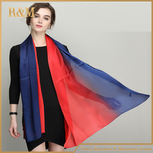 High quality twill silk women printed scarf
