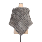 High quality Womens genuine triangle Rabbit fur Hand knitting Shawl for Winter