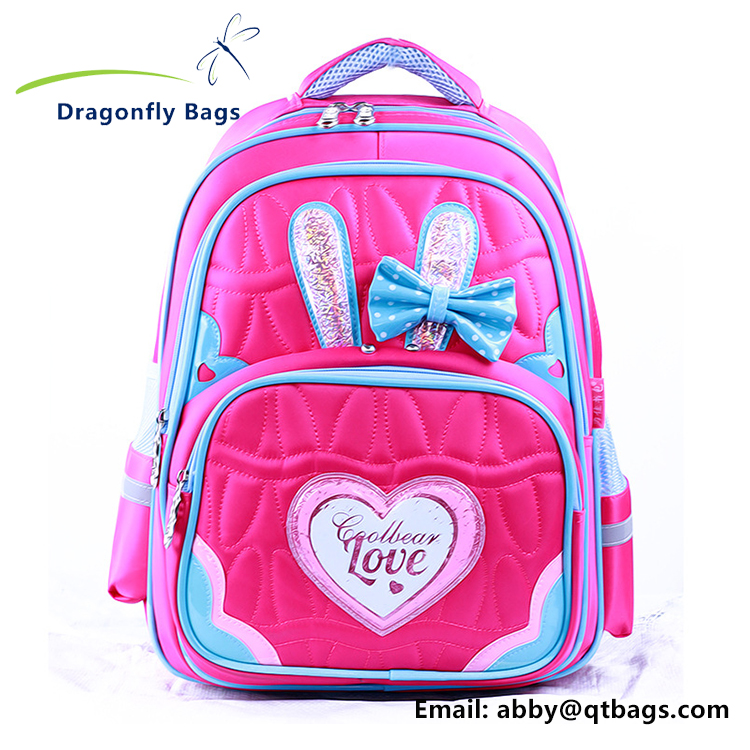 High Quality Waterpoof Fashion Rabbit Students School Bag Backpack