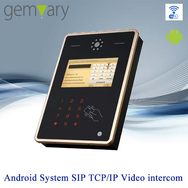 7 inch touch screen TCP/IP Android door station android interphone