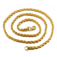 10k Yellow Gold Plated Diamond Cut Rope Chain 16-30 Inch 2.50mm,Cheap Chain Necklace Jewelry