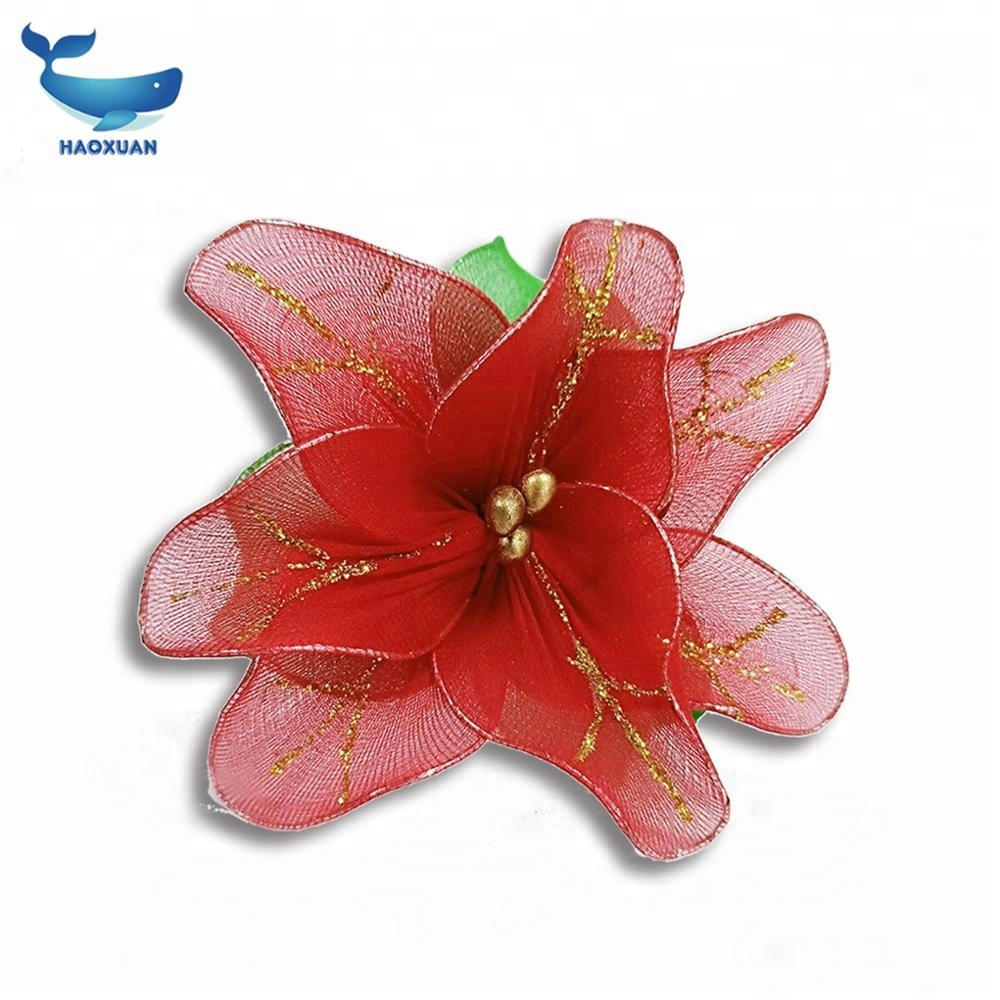 Hot sell Red Decoration Silk stocking <strong>flower</strong>