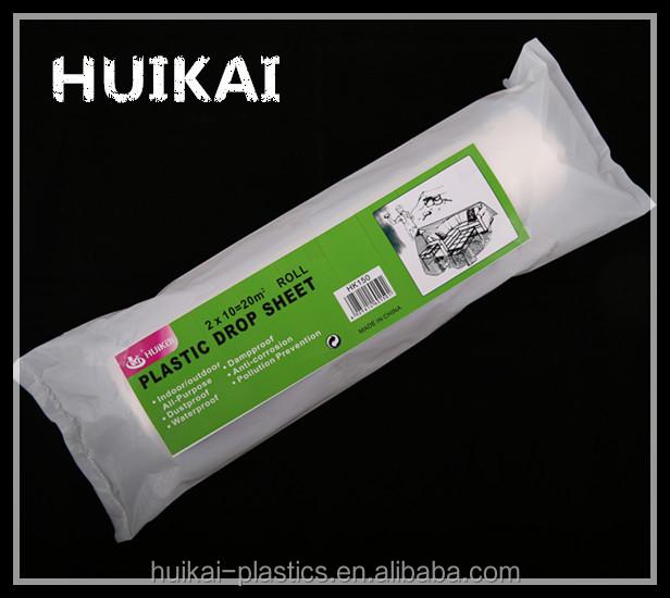 low price dustproof 3m paint protection film clear plastic drop cloth sheet