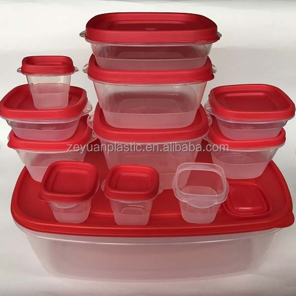 24pcs Rubbermaid Easy Find Lids Plastic Food Storage Containers