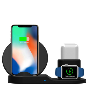 Smart Charge Station for Apple Watch, 3 IN 1 Charging Pad Magnetic Wireless Watch Charger for iPhone Airpod