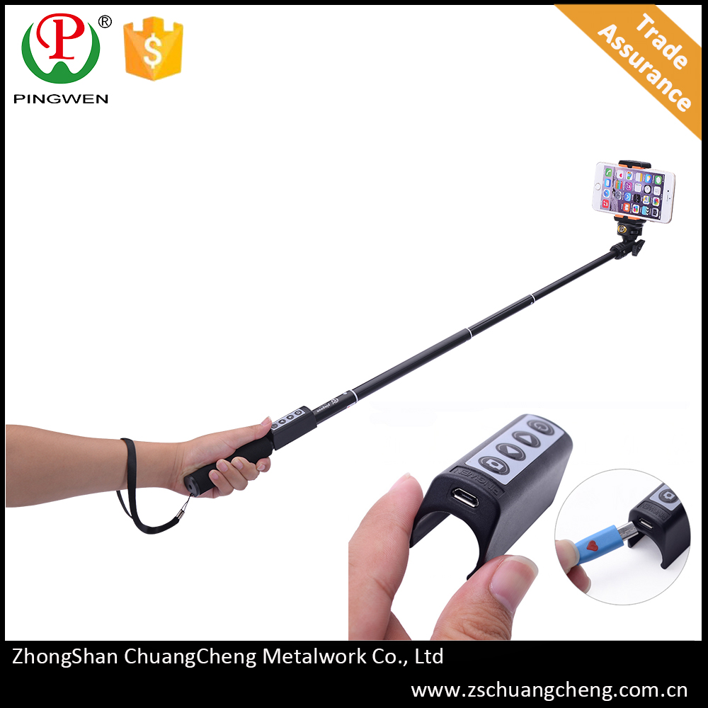 PingWen inovative for compact camera wired light 2015 newest cable china selfie stick