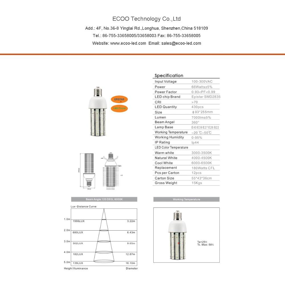 Wholesale LED corn lamp 60W E27 E40 LED Corn Light Bulb 6500lm SMD ...