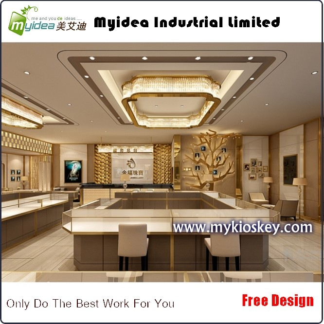 New arrival 3d rendering jewellery shop counter interior design ...