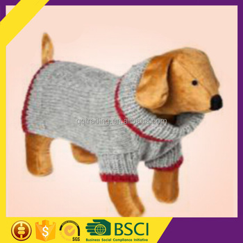 2016 Comfortable 1 Piece Acceptable Grey Cable Wool Dog Clothes For Europe