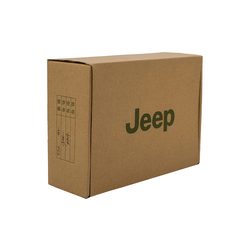 Custom logo printed high quality recycled clothes corrugated cardboard box