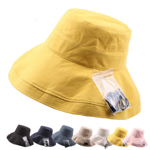 4712f8f74ac Outdoor Summer Wide Brim Sun Hat Anti UV Bucket Hat for Woman