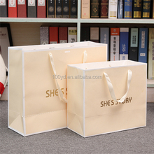 Hot selling popular style paper carrier custom printing reusable shopping bags