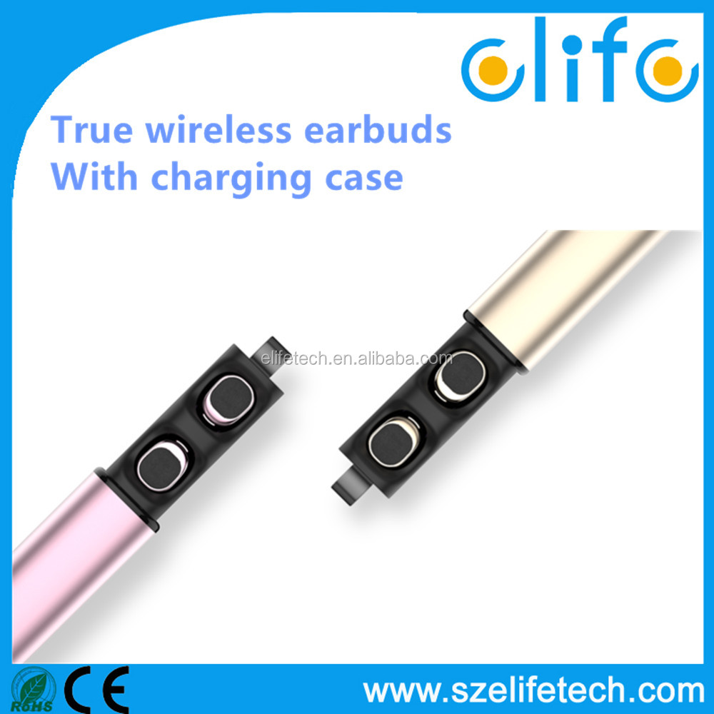 2017 stereo bluetooth wireless earbuds for phone accesorries