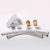 2 Crystal Handle 3 Hole led light lavatory faucet/basin waterfall faucet sink