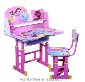 Modern Princess Cartoon Kids Study Table And Chair Designstudy