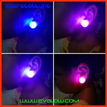1.5*1.5*1.8cm red/blue flashing led stud earring with clip