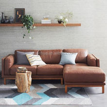 genuine leather sofa in living room SF-1602#