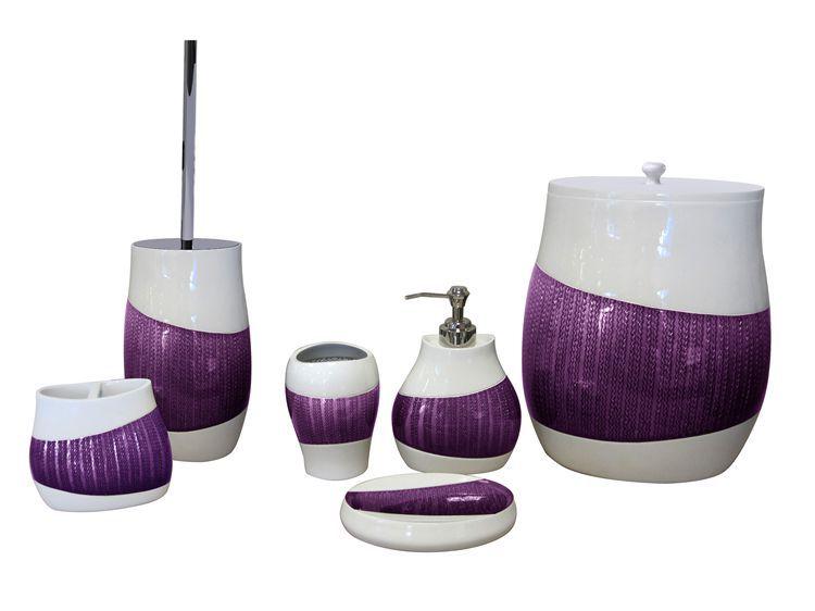 Neue Design Lila Luxus-badezimmer Zubehör-set - Buy Product on ...