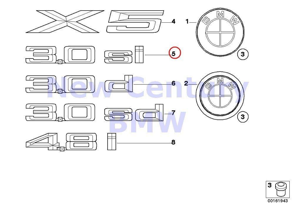 Genuine BMW F15 Front Door X DRIVE 50i Emblem Badge Logo Sign OEM 51147345055