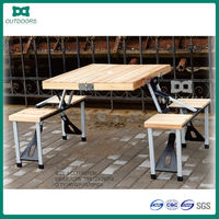 folding beach wooden chairs and tables set