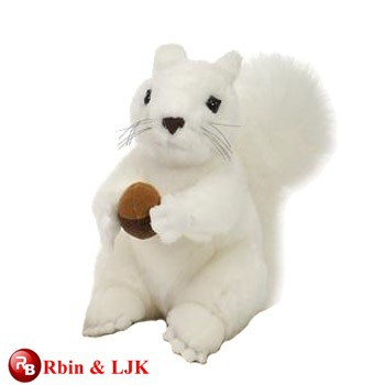 customized OEM design plush white squirrel