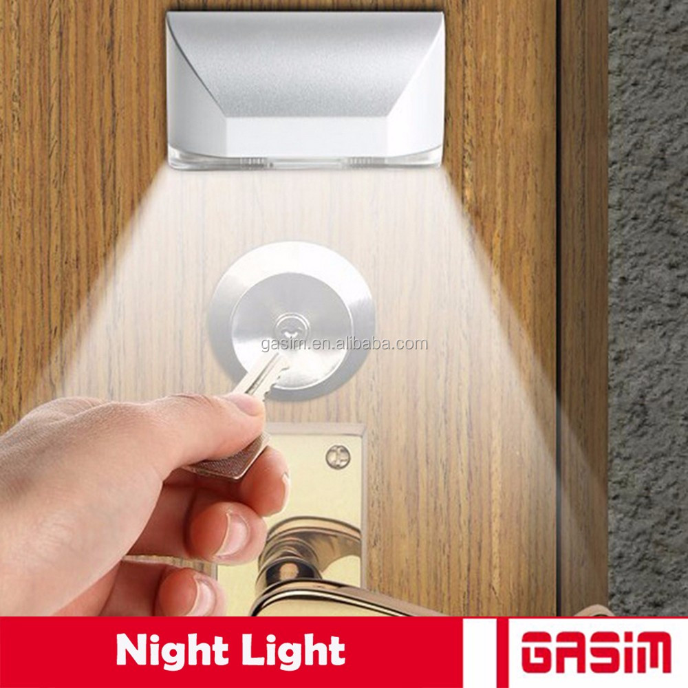 Indoor auto motion sensor keyhole led security light with battery