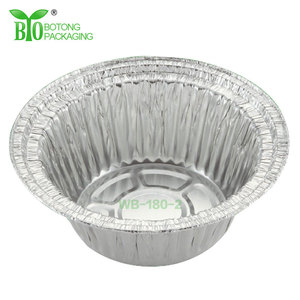 Silver Airline Round Aluminum Foil Tray Size