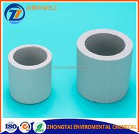 Ceramic Raschig Ring chemical random packing for ceramic scrubber packing