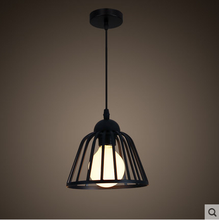 Black iron cage chandeliers/pendant light/lamp with E27 bulb light