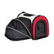 Waterproof 600D large walking foldable pet bag expandable dog carrier outside