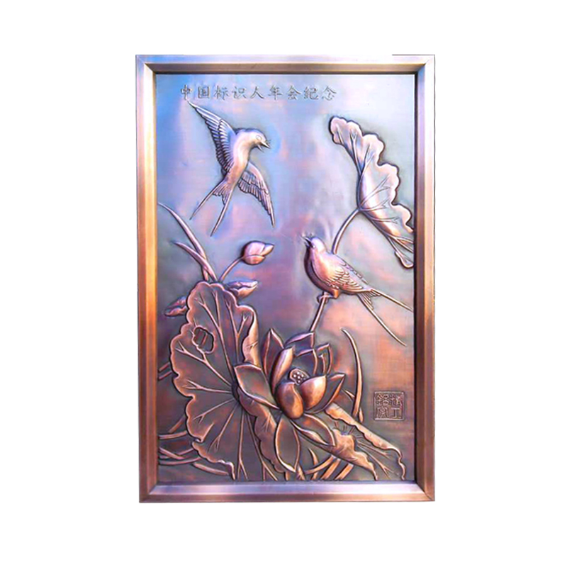 High quality customized metal handicraft wall art of bird and flowers