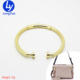 big size bag parts Handbag Accessories light gold Metal Round O Ring decoration hardware