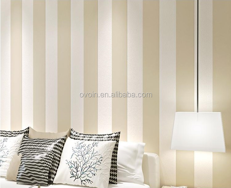 Yellow vertical striped wallpaper for boys
