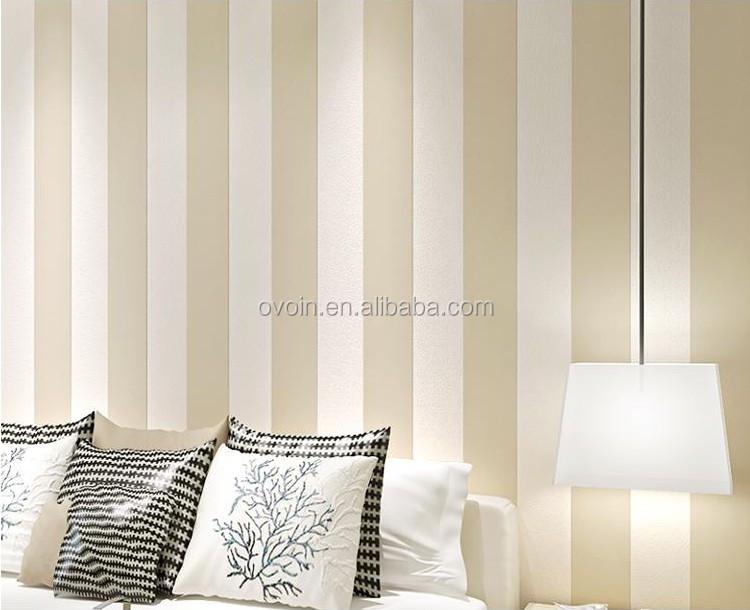 Modern Vertical Stripe Wallpaper Plain Wall Papers Home Decor Living Room Part 82