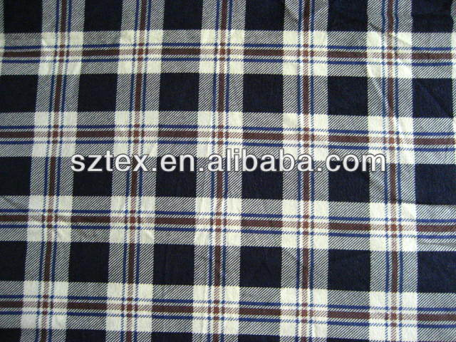 Competitve price & high quality disposable brushed plaid flannel cotton fabric 20*10
