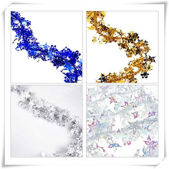 Iridescent White Tinsel Garland For Christmas Decoration - Buy ...