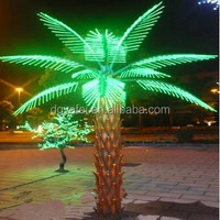 2015 the good quality artificial led palm tree artificial outdoor lighted palm tree