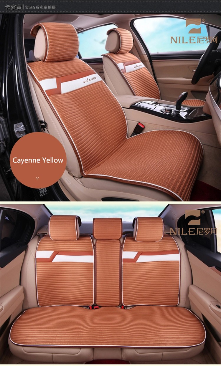 Cherry embroidery japanese design anime genuine leather car seat cover