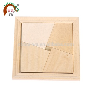 Handmade wooden jigsaw puzzles board for kids