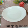 Modern European design opal glassware plate for hotels restaurants