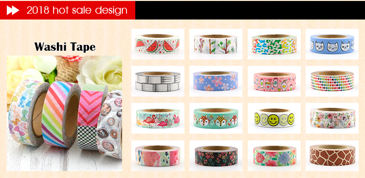 Custom crayon washi japanese washi masking tape