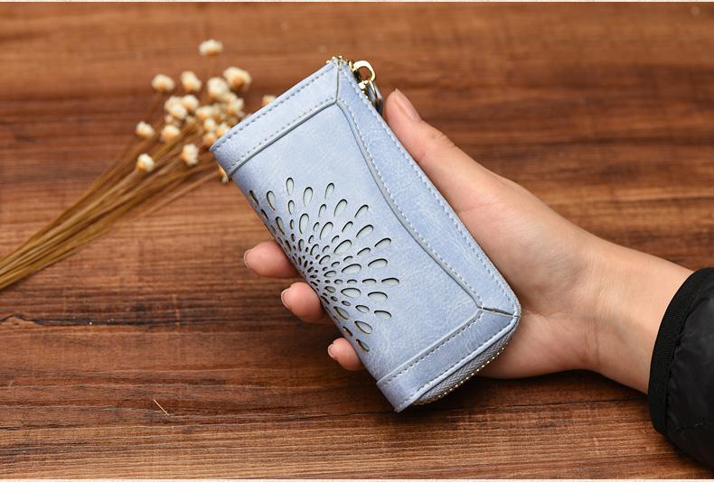 Custom Key Holder Wallet/Wholesale Leather Keychain Wallet/Women Leather Key Pouch