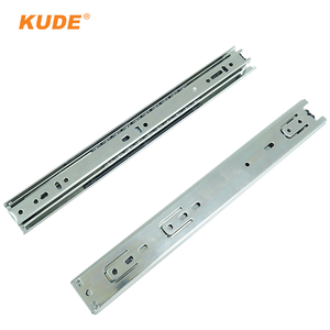 Furniture hardware drawer used 3 fold close ball bearing slide rail