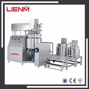 LIENM Cosmetic Mixer Cream Ointment Lotion Vacuum Homogenizer Emulsifier Mixer Mixing Tank Manufacturing Line Tank Machine