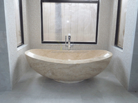 Natural Marble Stone Freestanding Modern Hand carved Bathtub