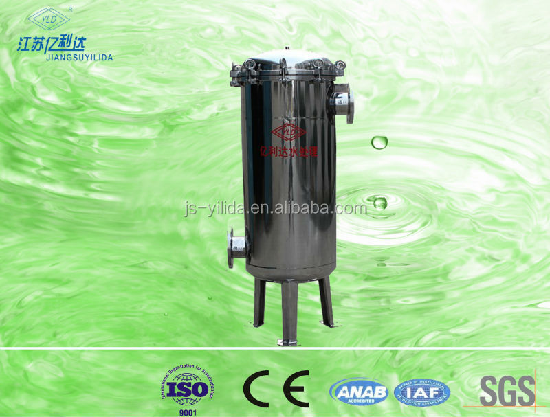 Reusable polyester pleated 5 micron cartridge filter for RO water treatment plant