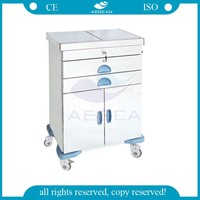 Hot sale AG-ET017 Luxurious Stainless Steel beach cart trolley
