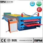 roofing metal double deck corrugated roof sheet making machine